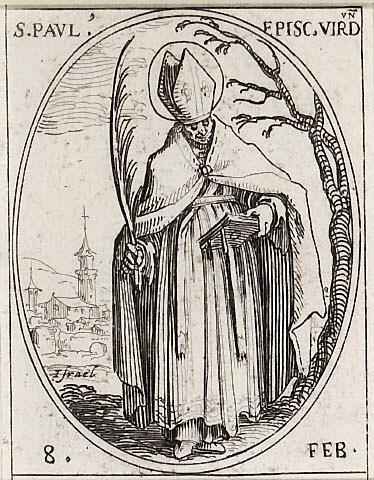 Jacques Callot (1592-1635): Den hellige biskop Paulus av Verdun (1630-t)