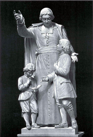 St. Jean Baptiste de la Salle teaching little boys