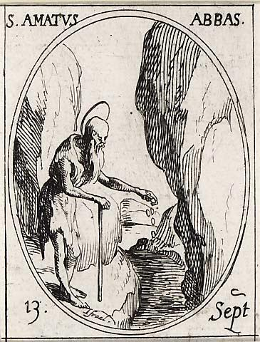 Jacques Callot (1592-1635): Den hellige abbed Amatus av Remiremont (1630-t)