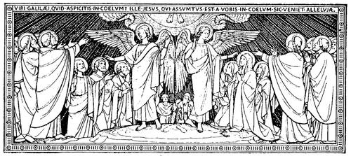 ŒUVRES CHRÉTIENNES DES FAMILLES ROYALES DE FRANCE - (Images et Musique)- année 1870  Ascension