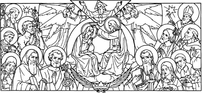 31 05 la bienheureuse vierge marie reine - Coloriage catholique ...